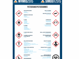 WHMIS 2015 (GHS) Symbol Poster, English/French, La