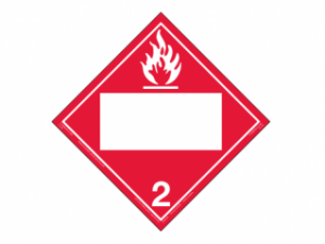 Hazard Class 2.1 - Flammable Gas, Removable Self-S