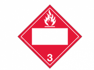 Hazard Class 3 - Flammable Liquid, Removable Self-