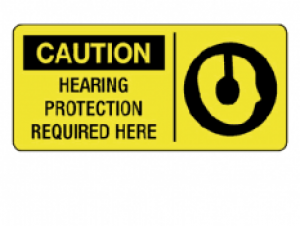 Caution - Hearing Protection Required Here, 7