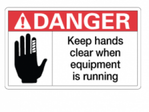 Keep Hands Clear When Equipment is Running, 3